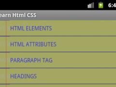 Html & CSS 2.6 Screenshot
