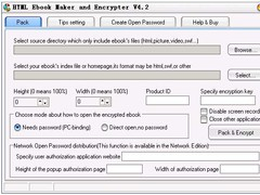 HTML Ebook Maker and Encrypter 4.2 Screenshot