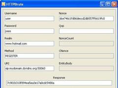 HTTPBrute 0.1 Screenshot