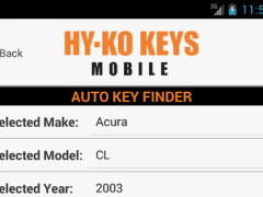Hy-Ko Key Finder 1.1.0 Screenshot