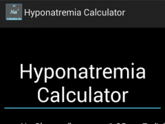Hyponatremia Calculator 1.0 Screenshot