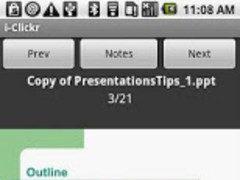 i-Clickr (Android 1.x) 1.0.4 Screenshot