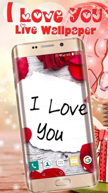 I Love You Live Wallpaper Romantic Free Download