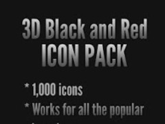 3D Black and Red - Icon Pack 2.0.8 Screenshot