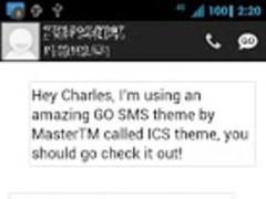 ICS GO SMS Theme 1.4 Screenshot
