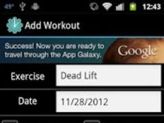 Ideal Tracker Workout Journal 1.1.0 Screenshot