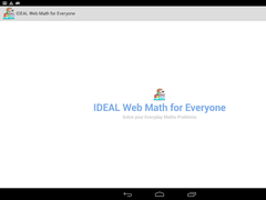 IDEAL Web Math for Everyone 2.5 Screenshot