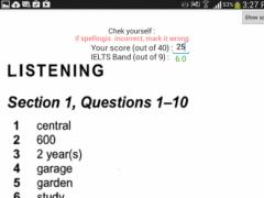 IELTS listening & writing test 4.2 Screenshot