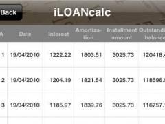 iLOANcalc 1.1 Screenshot