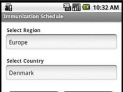 Immunization Schedule 1.1 Screenshot