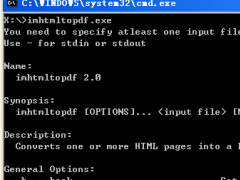 ImPDF HTML to PDF Converter Command Line Commany License 2.0 Screenshot