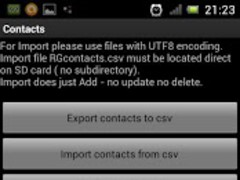 Import Contacts Export Contact 1.06 Screenshot