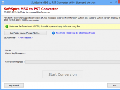 Import MSG File into Outlook 2007 2.1.7 Screenshot