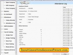 In Out Time Attendance Software 4.0.1.5 Screenshot
