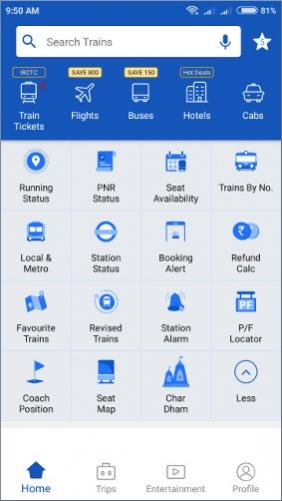 IRCTC Train PNR Status, NTES Rail Running Status
