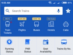 Review Screenshot - Find Out the Local Train Schedule in India