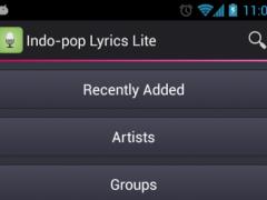 Indo-pop Lyrics (Indonesia) 1.1.1.3 Screenshot
