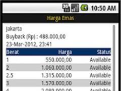 Indonesia Gold Price Antam 1.0 Screenshot
