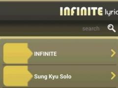Infinite Lyrics 2.0.6 Screenshot