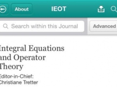 Integral Eqs and Operator Theory 3.0 Screenshot