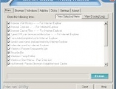 Internet Utility - Privacy Protector 3.00 Screenshot