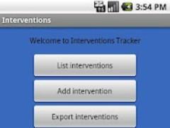 Interventions Tracker  Screenshot