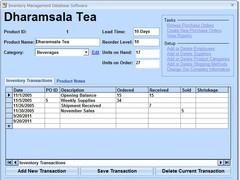 Inventory Management Database Software 7.0 Screenshot