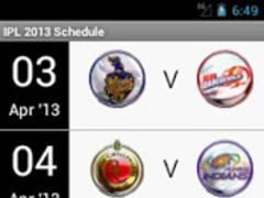 IPL 2013 Schedule Season 6 1.02 Screenshot