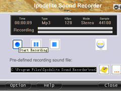 Ipodelite Sound Recorder 3.7 Screenshot