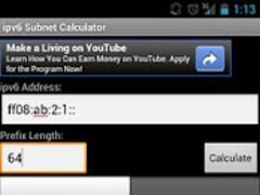 ipv6 Subnet Calculator 1.0 Screenshot