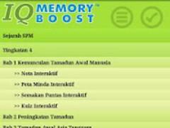 IQMemoryBoost Sejarah SPM 1.0.16 Screenshot