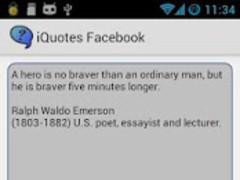 iQuotes Facebook 1.0 Screenshot