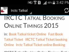 Irctc Tatkal 1.0 Screenshot