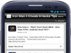 Iron Man 3 Cheats N Hacks Tips 1.0 Screenshot