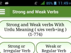 Irregular & Regular Verbs Urdu 1.1 Screenshot