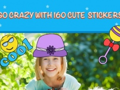 iStickOn Baby Love Sticker camera photo booth dress up retouch for kids and mom PRO 1.0 Screenshot