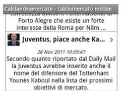 Italian soccer transfers 3.5 Screenshot