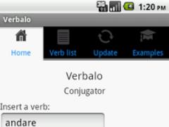 Italian verb conjugator 1.7 Screenshot