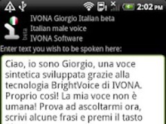 IVONA Giorgio Italian beta 1 6 23 422 Free Download
