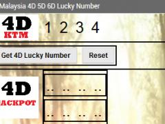 Jackpot 4D 5D 6D Lucky Numbers 1.0 Screenshot