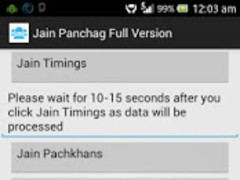 Jain Panchag 2012-2013 Version 1.3 Screenshot