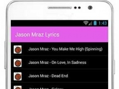 Jason Mraz Hit Lyrics 1.0 Screenshot
