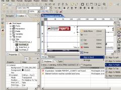 JasperAssistant report designer for JasperReports 3.1.1 Screenshot