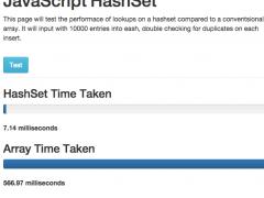 Javascript Hashset 1.0 Screenshot