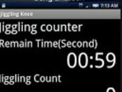 Jiggling your knee counter 2.0 Screenshot