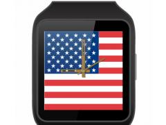 JJW USA Flag Watch Face 1.0 Screenshot