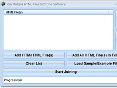 Join Multiple HTML Files Into One Software 7.0 Screenshot