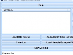 Join Multiple MOV Files Into One Software 7.0 Screenshot