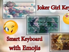 Joker Girl Keyboard Theme HD 1.3 Screenshot