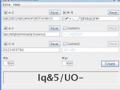 JPasswordGenerator 1.1 Screenshot